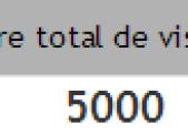 5000 visites !